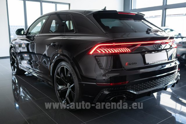 Hire and delivery to Cote D'azur International Airport the car Audi RS Q8