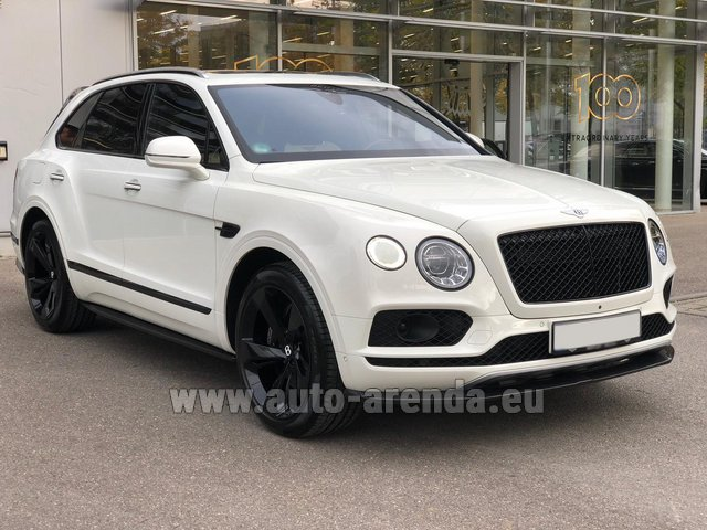 Rental Bentley Bentayga 6.0 litre twin turbo TSI W12 in Monte Carlo
