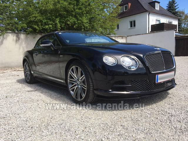 Rental Bentley Continental GTC V12-Speed in Fontvieille