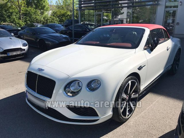 Rental Bentley Continental GTC V8 S in Monaco-Ville