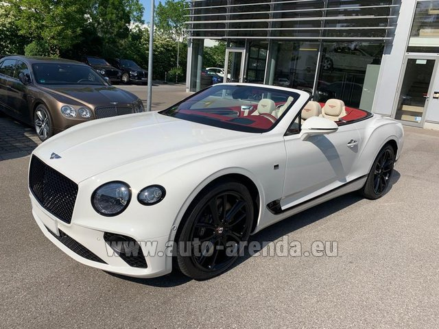 Hire and delivery to Cote D'azur International Airport the car Bentley GTC W12 First Edition