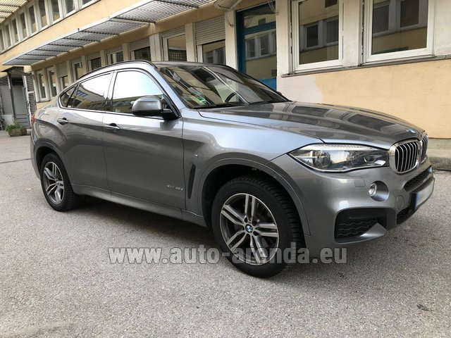 Rental BMW X6 4.0d xDrive High Executive M in La Condamine