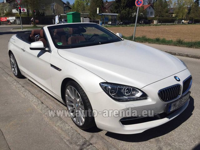 Rental BMW 640 Cabrio Equipment M-Sportpaket in Monaco-Ville