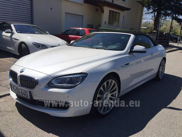 Rental BMW 640d Cabrio Equipment M-Sportpaket in Monaco City
