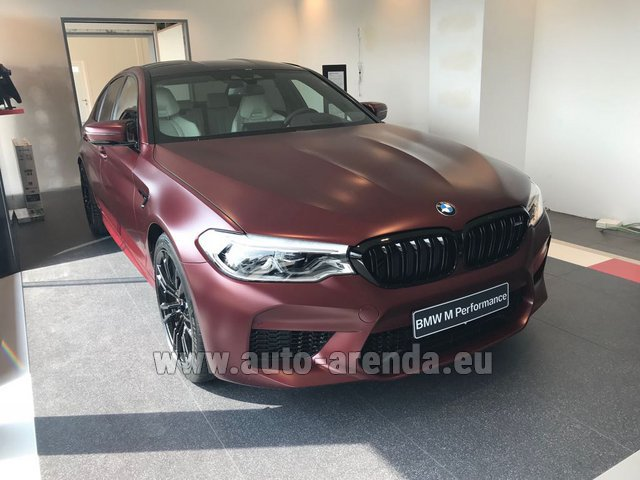 Rental BMW M5 Performance Edition in Fontvieille