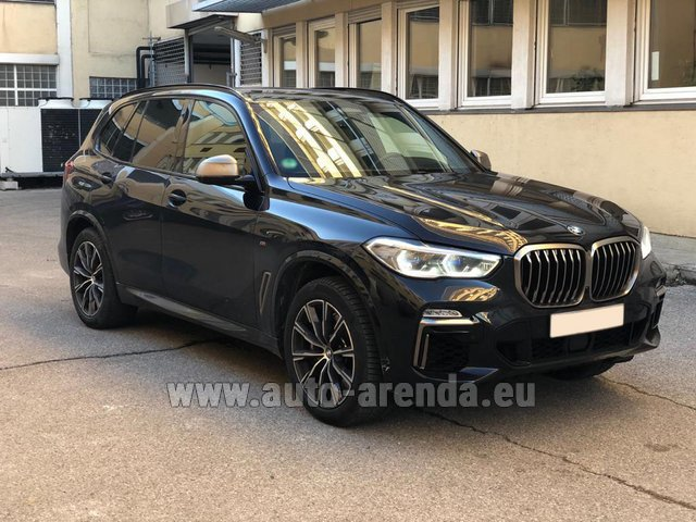 Hire and delivery to Cote D'azur International Airport the car BMW X5 M50d XDRIVE