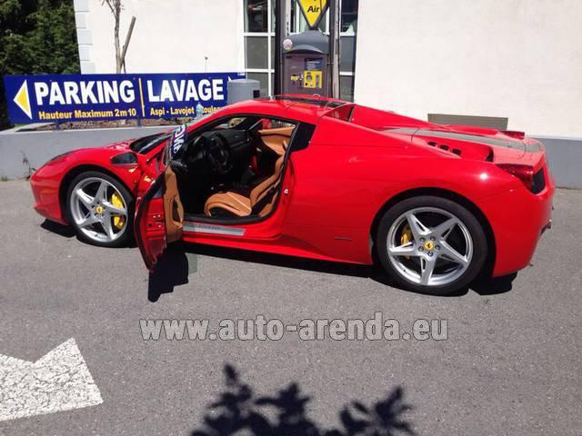 Rent The Ferrari 458 Italia Spider Cabrio Car In Fontvieille
