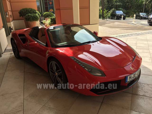 Rent The Ferrari 488 Gtb Spider Cabrio Car In La Condamine