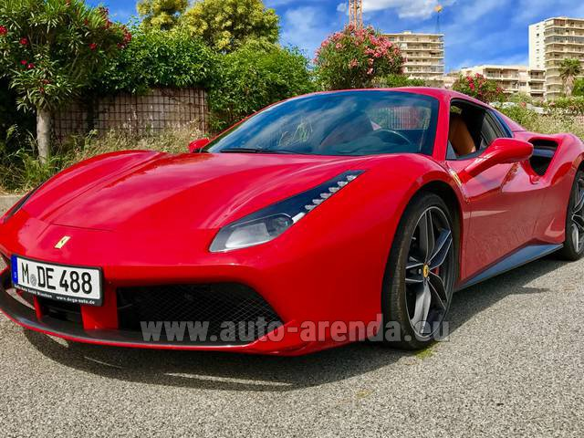 Rental Ferrari 488 in La Condamine