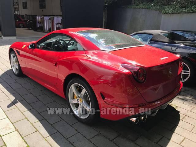 Rent The Ferrari California T Cabrio Red Car In La Condamine