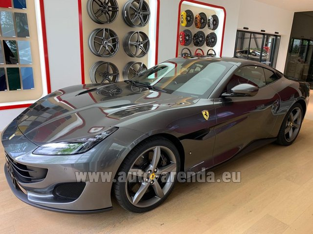 Hire and delivery to Cote D'azur International Airport the car Ferrari Portofino