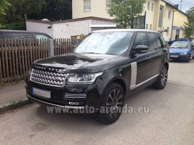 Hire and delivery to Cote D'azur International Airport the car Land Rover Range Rover SDV8 Autobiography