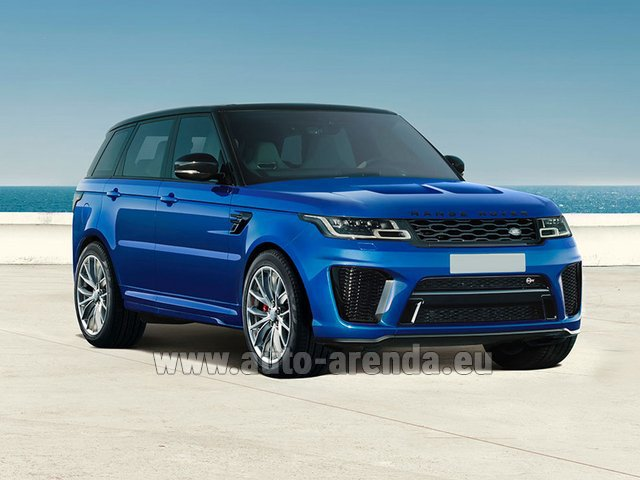 Hire and delivery to Cote D'azur International Airport the car Land Rover Range Rover Sport SVR V8