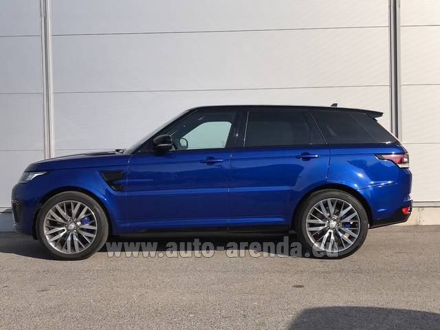 Hire and delivery to Cote D'azur International Airport the car Land Rover Range Sport SVR V8