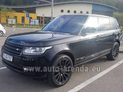 Rental in Monaco the car Land Rover Range Super Charge 5.0L Long