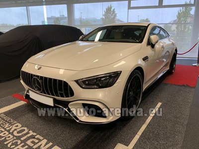 Rental in Monaco the car Mercedes-Benz AMG GT 63 S 4-Door Coupe 4Matic+