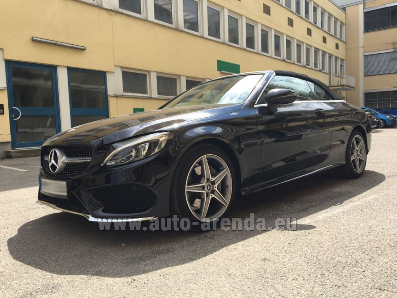 monaco ville mercedes c class c 180 cabrio amg equipment black rental. Black Bedroom Furniture Sets. Home Design Ideas