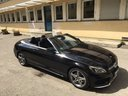 Rental in Monaco the car Mercedes-Benz C 180 Cabrio AMG Equipment Black