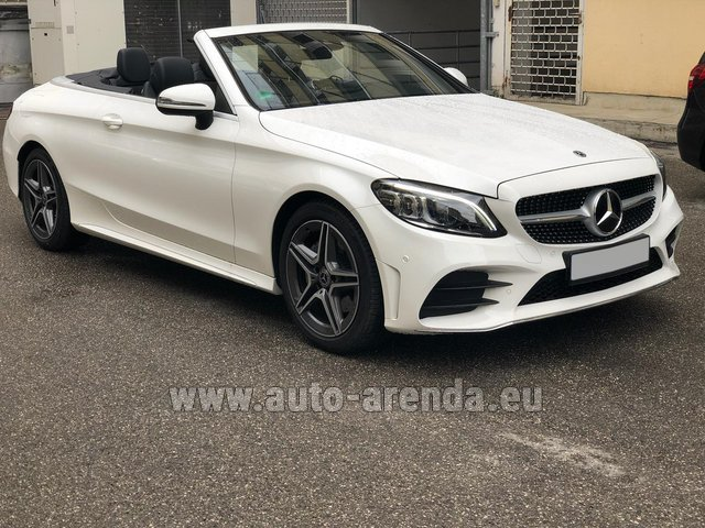Rental Mercedes-Benz C-Class C 180 Cabrio AMG Equipment White in Monaco