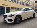 Rental in Monaco the car Mercedes-Benz C-Class C43 AMG Biturbo 4MATIC White