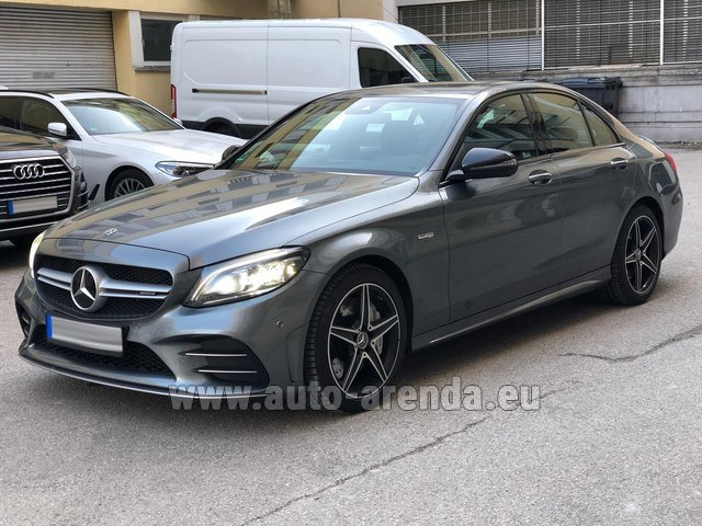Hire and delivery to Cote D'azur International Airport the car Mercedes-Benz C-Class C43 BITURBO 4Matic AMG