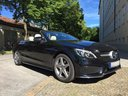 Rental in Monaco the car Mercedes-Benz C-Class C 180 Cabrio AMG Equipment (Black)