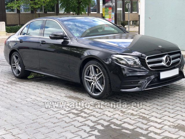 Rental Mercedes-Benz E 450 4MATIC saloon AMG equipment in Monaco