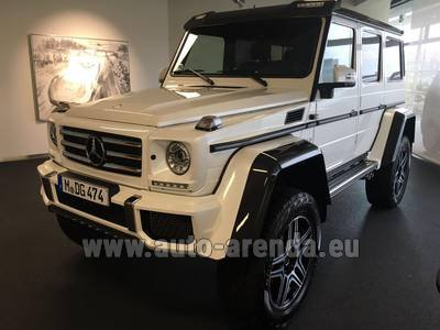 Rental in Monaco the car Mercedes-Benz G 500 4x4 White