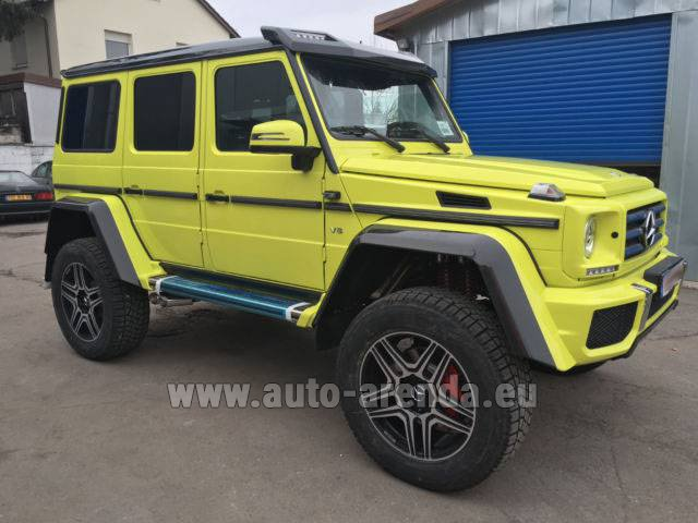 Rental Mercedes-Benz G 500 4x4 Yellow in Monaco