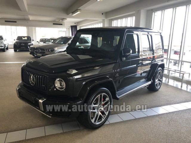 Rental Mercedes-Benz G63 AMG V8 biturbo in Monte Carlo