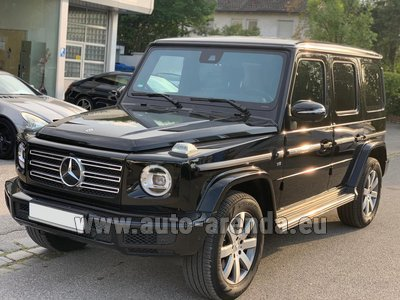 Rental in Monaco the car Mercedes-Benz G-Class G500 Exclusive Edition
