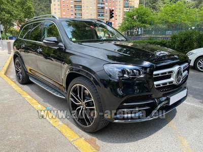 Rental in Monaco the car Mercedes-Benz GLS 400d BlueTEC 4MATIC, TV, AMG equipment, VIP