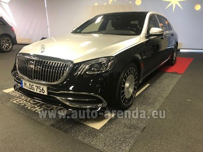 Maybach/Mercedes S 560 Extra Long 4MATIC комплектация AMG для трансферов из аэропортов и городов в Монако и Европе.