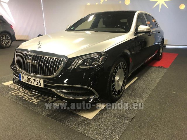 Rental Maybach S 560 4MATIC AMG equipment Metallic and Black in Monte Carlo