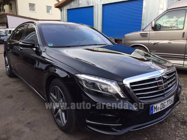 Rental Mercedes-Benz S 350 L BlueTEC AMG in Fontvieille