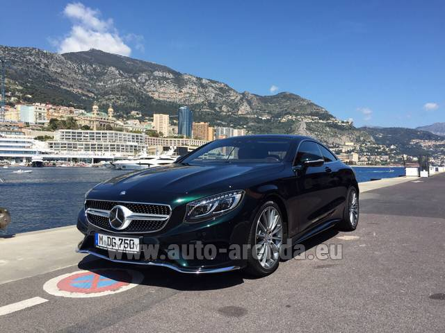 Rental Mercedes-Benz S 500 Coupe 4Matic 7G-TRONIC AMG in Monaco City