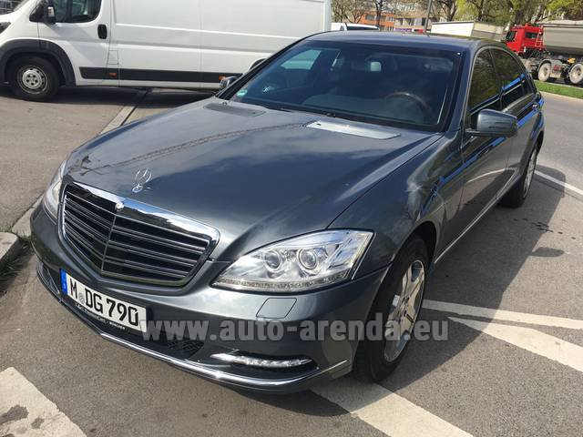 Rental Mercedes-Benz S 600 L B6 B7 Guard FACELIFT in Fontvieille