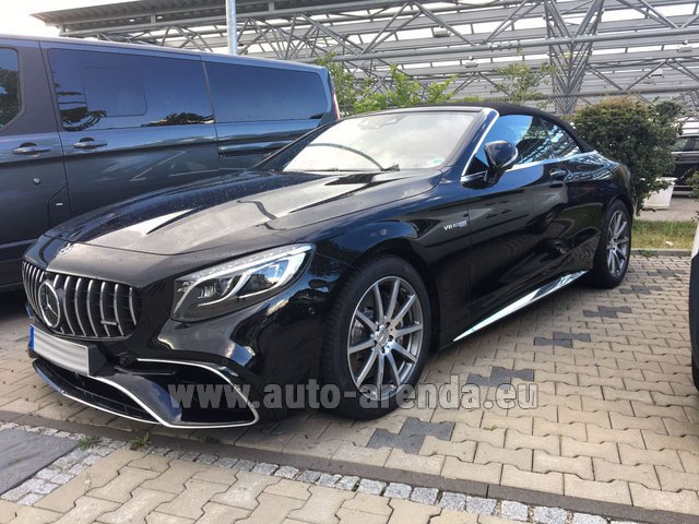 Rental Mercedes-Benz S 63 AMG Cabriolet V8 BITURBO 4MATIC+ in Monaco City