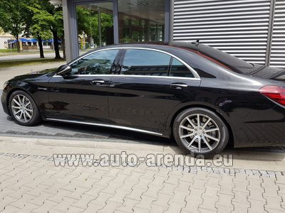 Mercedes S63 AMG Long 4MATIC для трансферов из аэропортов и городов в Монако и Европе.