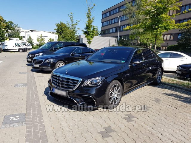 Rental Mercedes-Benz S 63 AMG Long in Fontvieille