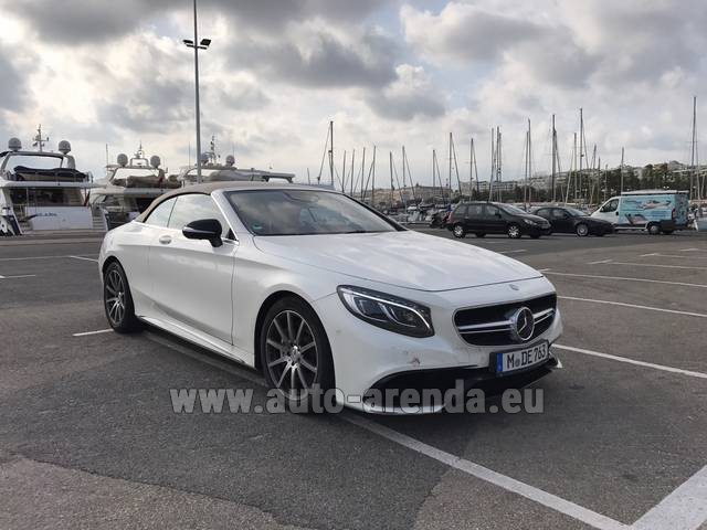 Rental Mercedes-Benz S 63 Cabrio AMG in La Condamine