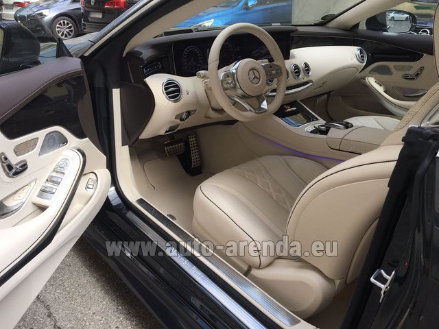 Rental Mercedes-Benz S-Class S 560 4MATIC Coupe in Monte Carlo