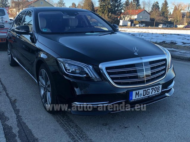 Rental Mercedes-Benz S-Class S400 Long Diesel 4Matic AMG equipment in Monte Carlo