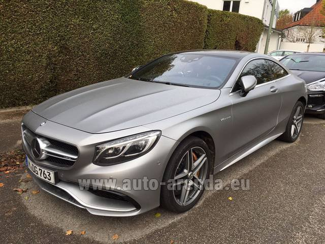 Rental Mercedes-Benz S-Class S63 AMG Coupe in Monaco-Ville