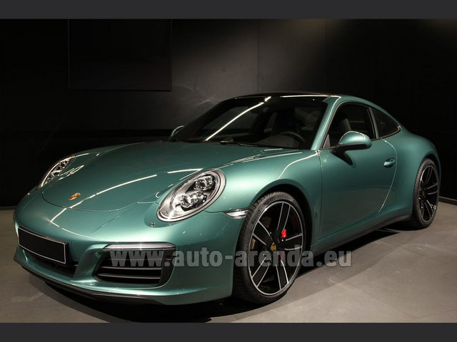 Rental Porsche 911 991 4S Racinggreen Individual Sport Chrono in Monaco City