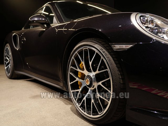 Rental Porsche 911 991 Turbo S Ceramic LED Sport Chrono Package in Monaco