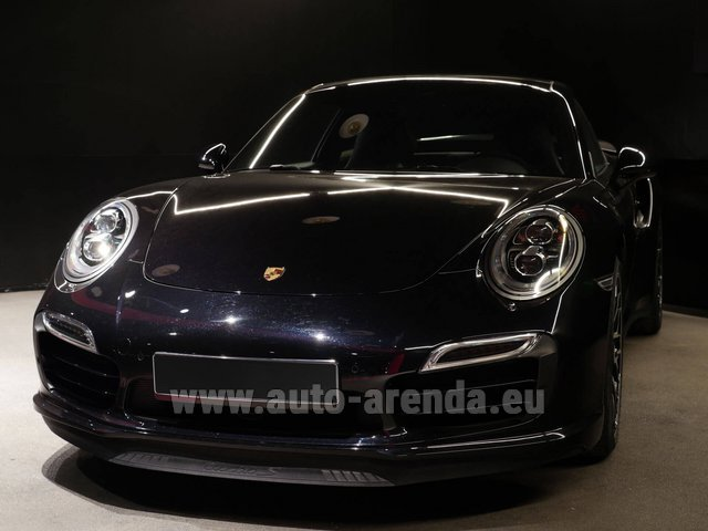 Rental Porsche 911 991 Turbo S Ceramic LED Sport Chrono Package in Monaco City