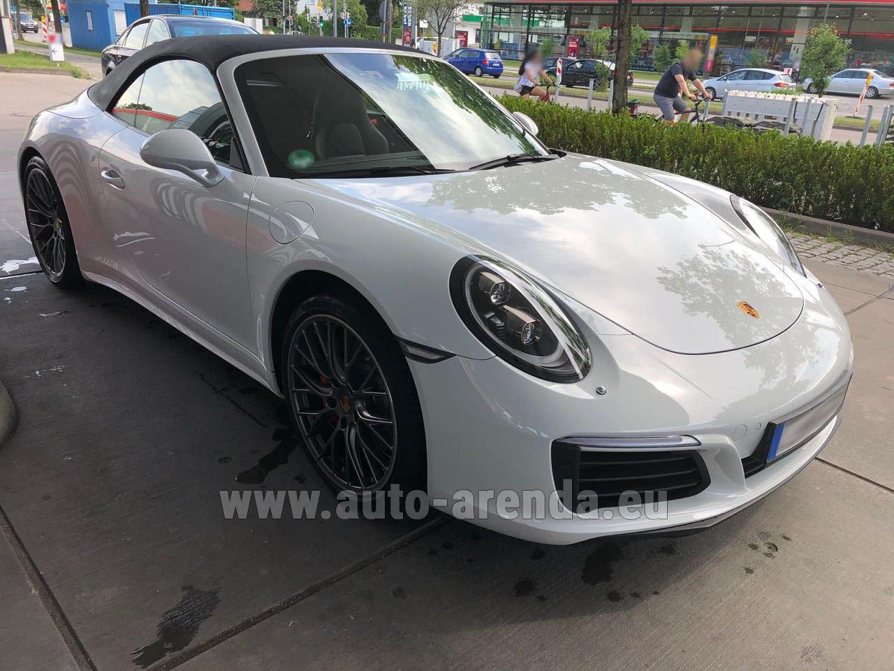 monaco ville porsche 911 carrera 4s cabrio white rental. Black Bedroom Furniture Sets. Home Design Ideas