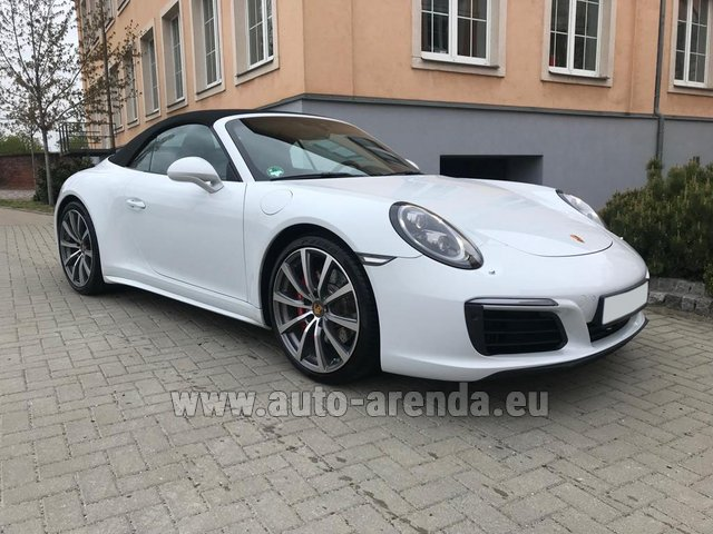 Hire and delivery to Cote D'azur International Airport the car Porsche 911 Carrera 4S Cabrio