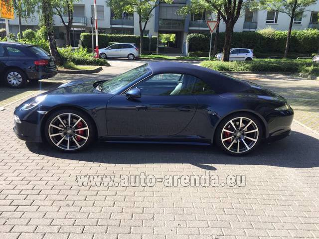Rental Porsche 911 Carrera 4S Cabriolet in Monaco City